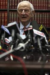 Manhattan District Attorney Robert Morgenthau speaks to reporters during a news conference, Friday, Oct. 2, 2009 in New York.
