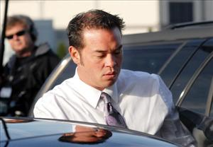 Jon Gosselin speaks with the media as he leaves Montgomery County Courthouse after a hearing regarding his divorce from wife Kate Gosselin earlier this year.