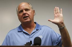 Conservative talk show host Rush Limbaugh speaks during a news conference at The Queen's Medical Center in Honolulu, Friday, Jan. 1, 2010.
