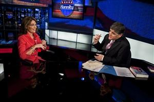 Sean Hannity interviewing former Alaska Gov. Sarah Palin in New York, Wednesday, Nov. 18, 2009.