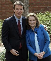 John Edwards and his wife Elizabeth in 2007.