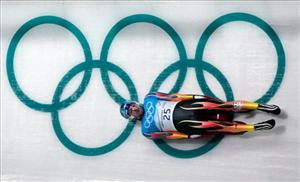 Tony Benshoof of the United States practices during a men's singles luge training session at the Vancouver 2010 Olympics in Whistler, British Columbia, Wednesday, Feb. 10, 2010.