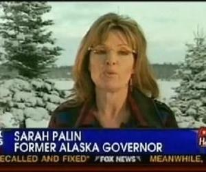 Sarah Palin appears on Sean Hannity's show in this YouTube screenshot.