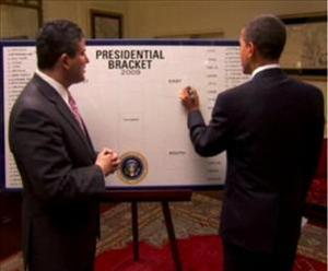 President Obama is making NCAA tournament picks for ESPN again this year.