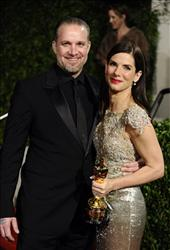Sandra Bullock and Jesse James arrive at the Vanity Fair Oscar party on Sunday, March 7, 2010, in West Hollywood, Calif.