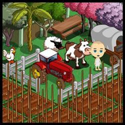 Farmville, on Facebook.