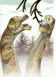 Dinosaurs, without a care in the world.