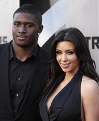 Reggie Bush and Kim Kardashian arrive to the premiere of Transformers:Revenge of the Fallen on Monday, June 22, 2009, in Los Angeles.