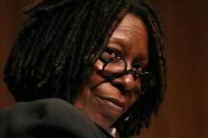 Whoopi Goldberg listens to a question as she takes part in a panel discussion, April 6, 2010 at the 92nd Street Y in New York.