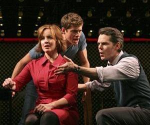 In this publicity photo, Alice Ripley, Aaron Tveit, and J. Robert Spencer appear in a scene from Next To Normal at the Booth Theatre in New York. The show has won the 2009 Pulitzer Prize for Drama.