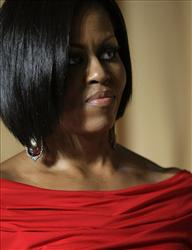 First lady Michelle Obama attends the White House Correspondents' Association Dinner at the Washington Hilton Hotel, Saturday, May 1, 2010, in Washington.