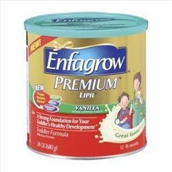 A can of Enfagrow Premium vanilla formula.