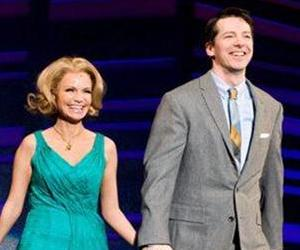 Kristin Chenoweth and Sean Hayes appear for the curtain call at the opening night performance of the Broadway musical Promises, Promises in New York, Sunday, April 25, 2010.