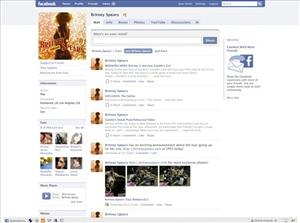 In this screen grab provided by Facebook, the public profile page for Britney Spears is shown.