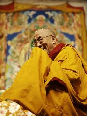 The Dalai Lama smiles as he arrives for a three-day teaching event called The way toward Inner Peace in Milan, Italy, Friday, Dec. 7, 2007. The Dalai Lama opened a 10-day visit to Italy on Thursday with few official meetings on his schedule and no plans by the Vatican for...