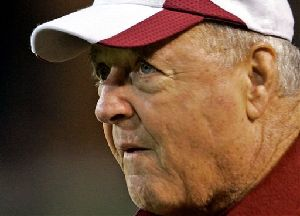 Florida State football coach Bobby Bowden watches during the first half of a college football game against  Wake Forest in Winston-Salem, N.C., in this Oct. 11, 2007 file photo.  An academic cheating scandal could leave Florida State without as many as 25 players when the Seminoles go against Kentucky...