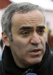 Kremlin critic and former world chess champion Garry Kasparov. A member of his opposition coalition has been committed to a mental hospital.  (AP Photo)