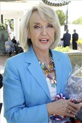 Arizona Gov. Jan Brewer attends a ceremony commemorating the 60th Anniversary of the start of the Korean War, Friday, June 25, 2010, in Phoenix.