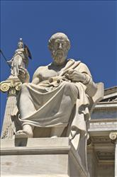 Plato statue in Athens, Greece.