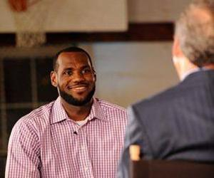 LeBron James answers questions from Jim Gray during an interview on ESPN on Thursday, July 8, 2010, in Greenwich, Conn. James said he's decided to leave the Cleveland Cavaliers for the Miami Heat.