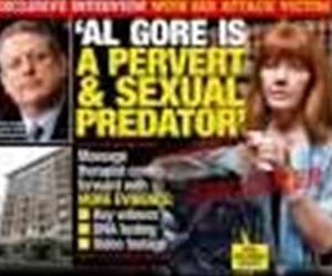 The cover of a National Enquirer issue featuring Molly Hagerty is shown in a YouTube thumbnail.
