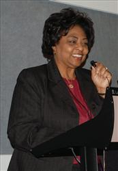 An undated photo provided by the United States Department of Agriculture shows USDA official Shirley Sherrod. Sherrod is at the center of a racially tinged firestorm involving the Obama administration and the NAACP. Sherrod was ousted Tuesday by Agriculture Secretary Tom Vilsack over her comments that she didn't give a...