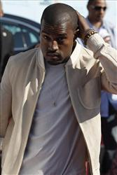 Kanye West arrives at the 9th Annual BET Awards on Sunday, June 28, 2009, in Los Angeles.