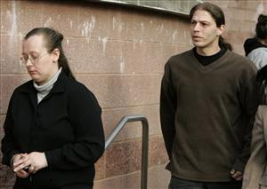 Deborah Campbell and husband Heath leave court in Flemington, NJ, last year.