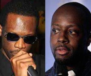 This combo image shows Prakazarel Pras Michel (left) and Wyclef Jean.