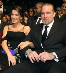 Actress Sandra Bullock and husband Jesse James at the 41st NAACP Image Awards on Friday, Feb. 26, 2010, in Los Angeles.