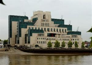 The man's apartment was directly across the Thames from the headquarters of  Britain's secret intelligence service MI6.
