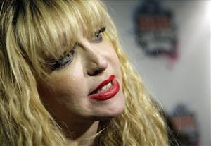 U.S. singer Courtney Love, seen as she attends the NME 2010 awards, in south London, Wednesday, Feb. 24, 2010.