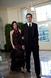 Peter Orszag, Director, Office of Management and Budget and TV personality Bianna Golodryga arrive at the White House for a state dinner May 19, 2010 in Washington, DC.