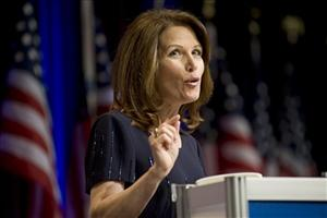 In this Feb. 9, 2010 photo, Rep. Michele Bachmann, R-Minn. addresses the Conservative Political Action Conference (CPAC) in Washington.