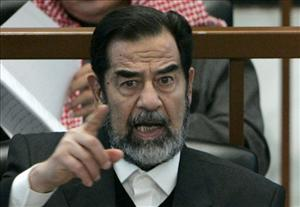 A file photo of Saddam Hussein.