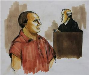 A 2009 courtroom sketch of David Coleman Headley.