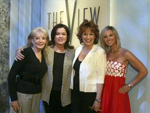 This file photo originally supplied by ABC shows Rosie O'Donnell posing with her co-hosts on ABC's The View.