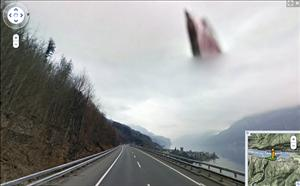 An image from Google's Street View in Quaren, Switzerland.