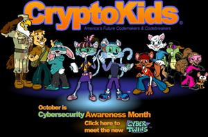 The computer/math geek starts of CryptoKids cartoons, created by the National Security Agency.