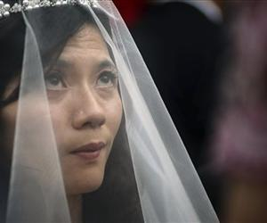 This isn't Chen Wei-yih, just a file photo of a more traditional Taiwanese bride.