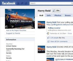 Harry Reid was one of only a few who won despite having fewer Facebook friends than his opponent.