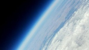 This image was taken from a paper plane launched into space by a British team.