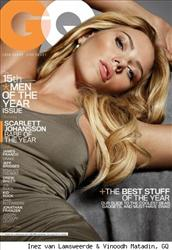 Scarlett Johansson is shown on the cover of GQ's Men of the Year issue.