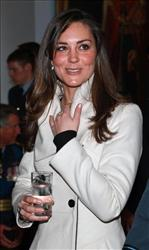 FILE - This is a Friday April 11, 2008 file photo of Kate Middleton, girlfriend of Britain's Price William, in RAF Cranwell, England where Prince William received his RAF wings from his father the Prince Charles. Prince William's fiancee Kate Middleton is a country girl who loves the late-night club...
