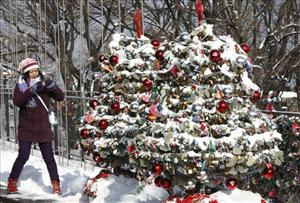 Thousands of locks of love hang on Christmas trees at a terrace of Seoul Tower on Mt. Namsan in Seoul, South Korea, Tuesday, Jan. 5, 2010.
