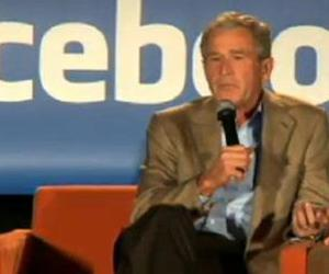 George W. Bush talks the Facebook.