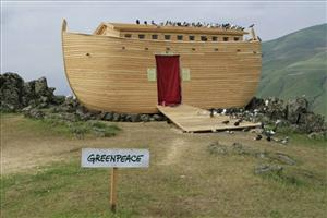 Greenpeace, not Ark Encounter, built this particular Noah's Ark replica.