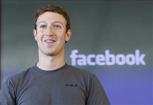 Facebook CEO Mark Zuckerberg smiles during an announcement in San Francisco last month.