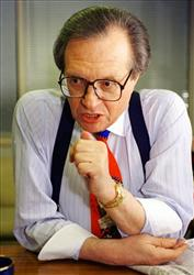 In this Jan 5, 1994 file photo, Larry  King is shown during an interview at the CNN studio in Washington.