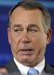 With tears in his eyes, John Boehner celebrates the GOP's victory, Nov. 2, 2010.